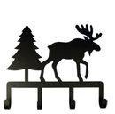 Village Wrought Iron KH-22 Moose & Pine - Key Holder