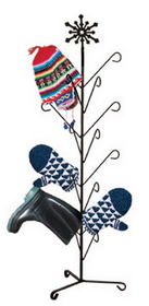 Village Wrought Iron MD-S-8-85 Snowflake - Mitten or Boot Dryer Holds 8 Pair, Price/Each