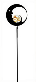 Village Wrought Iron MGS-2 Moon, Marble Garden Stake, Price/Each