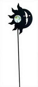 Village Wrought Iron MGS-62 Sun -Moon Marble Garden Stake, Price/Each