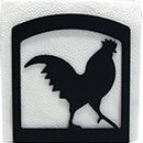 Village Wrought Iron NH-1 Rooster - Napkin Holder