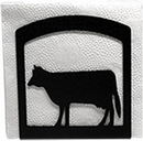 Village Wrought Iron NH-5 Cow - Napkin Holder