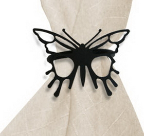 Village Wrought Iron NR-38 Butterfly, Napkin Ring, Price/Each