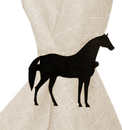 Village Wrought Iron NR-68 Standing Horse - Napkin Ring