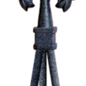 Village Wrought Iron NTR-120 Star Finial Natural Tripod, Price/Each