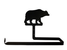 Village Wrought Iron PT-B-14 Bear Paper, Paper Towel Holder Horizontal Wall Mount, Price/Each