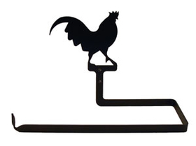 Village Wrought Iron PT-B-1 Rooster - Paper Towel Holder Horizontal Wall Mount, Price/Each