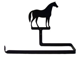 Village Wrought Iron PT-B-68 Horse, Paper Towel Holder Horizontal Wall Mount, Price/Each