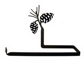 Village Wrought Iron PT-B-89 Pinecone - Paper Towel Holder Horizontal Wall Mount, Price/Each