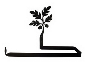 Village Wrought Iron PT-B-93 Acorn - Paper Towel Holder Horizontal Wall Mount, Price/Each