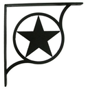 Village Wrought Iron SB-144-L Western Star - Shelf Brackets Large