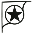 Village Wrought Iron SB-144-M Western Star - Shelf Brackets Medium