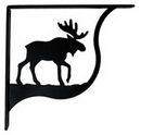 Village Wrought Iron SB-19-M Moose - Shelf Brackets Medium