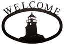 Village Wrought Iron WEL-10-S Lighthouse - Welcome Sign Small