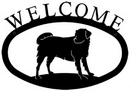 Village Wrought Iron WEL-105-S Dog - Welcome Sign Small