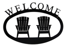 Village Wrought Iron WEL-119-S Adirondacks - Welcome Sign Small