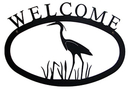 Village Wrought Iron WEL-133-L Heron - Welcome Sign Large