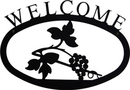Village Wrought Iron WEL-157-S Grapevine - Welcome Sign Small