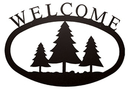 Village Wrought Iron WEL-20-L Pine Trees - Welcome Sign Large