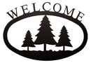 Village Wrought Iron WEL-20-S Pine Trees - Welcome Sign Small