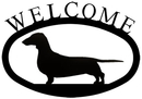 Village Wrought Iron WEL-241-S Dachshund - Welcome Sign Small