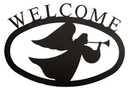 Village Wrought Iron WEL-48-S Angel - Welcome Sign Small