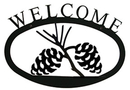 Village Wrought Iron WEL-89-S Pinecone Welcome Sign Sm