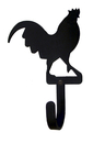 Village Wrought Iron WH-1-S Rooster - Wall Hook Small
