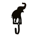 Village Wrought Iron WH-112-S Elephant - Wall Hook Sm.
