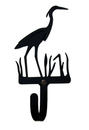 Village Wrought Iron WH-133-S Heron - Wall Hook Small