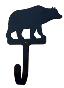 Village Wrought Iron WH-14-L Bear, Wall Hook Large, Price/Each