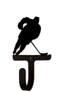 Village Wrought Iron WH-158-S Hockey Player - Wall Hook Small
