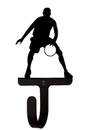 Village Wrought Iron WH-179-S Basketball Player - Wall Hook Small