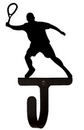 Village Wrought Iron WH-191-S Tennis Player - Wall Hook Small
