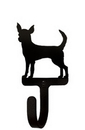 Village Wrought Iron WH-240-S Chihuahua - Wall Hook Small