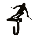 Village Wrought Iron WH-284-S Skier - Wall Hook Sm.