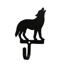 Village Wrought Iron WH-297-S Wolf Standing - Wall Hook Small