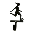 Village Wrought Iron WH-302-S Soccer - Woman's / Girl's - Wall Hook Small