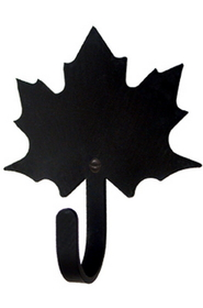 Village Wrought Iron WH-40-S Maple Leaf - Wall Hook Small, Price/Each