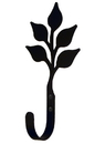 Village Wrought Iron WH-76-L Leaf Wall Hook LG