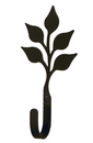 Village Wrought Iron WH-76-S Leaf - Wall Hook Small