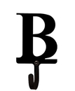 Village Wrought Iron WH-B-S Letter B - Wall Hook Small