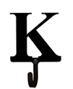 Village Wrought Iron WH-K-S Letter K - Wall Hook Small
