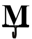 Village Wrought Iron WH-M-S Letter M - Wall Hook Small