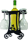 Village Wrought Iron WRC-B-157 Grapevine Design - Wine Holder