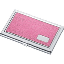 Lorena Hot Pink Synthetic Leather Business Card Case for Ladies