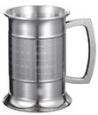 Visol Metric Glass Bottom 16 ounce Stainless Steel Beer Mug