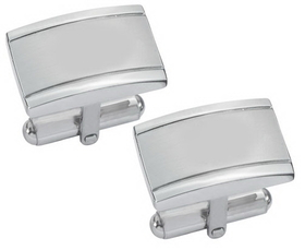 Visol Taurus Brushed Stainless Steel Cufflinks, Price/Pair