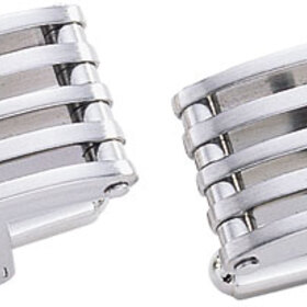 Visol Borealis Modern Brushed Stainless Steel Cufflinks, Price/Pair
