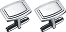 Visol Capri Stainless Steel Engravable Cufflinks